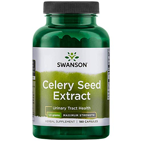 Swanson Celery Seed Extract (Cellery) Urinary Health Antioxidant Support Phytochemicals Volatile Oils Supplement Maximum Strength 500 mg 180 Capsules ()