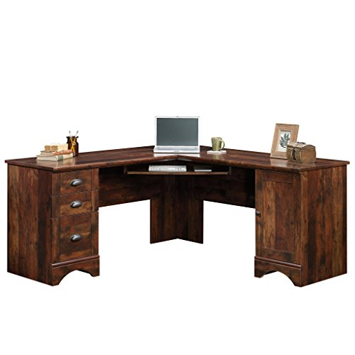 Sauder 420474 Harbor View Corner Computer Desk, L W: 66.14