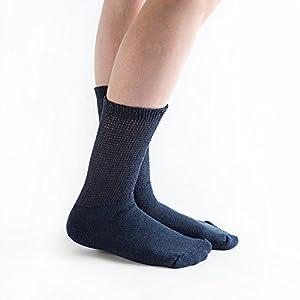 Doc Ortho Loose Fit Diabetic Crew Socks: 6 Pairs