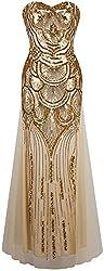 Sequin Strapless Sweetheart Neck Dress
