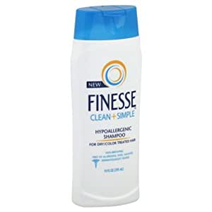 hypoallergenic hair styling products finesse clean amp simple hypoallergenic shampoo 9274