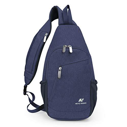 N NEVO RHINO Sling Bag Sling Backpack Crossbody Bags for women/men, Travel Hiking Chest Bag Daypack
