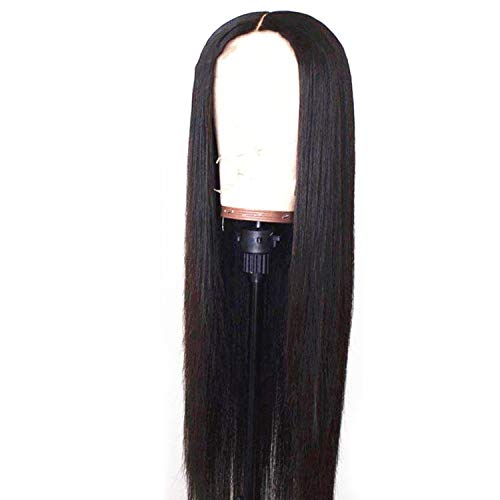 30 inch 13x6 Transparent Lace Front Human Hair Wigs 250 density For Black Women Straight Frontal Wig Pre Plucked,26inches,250%