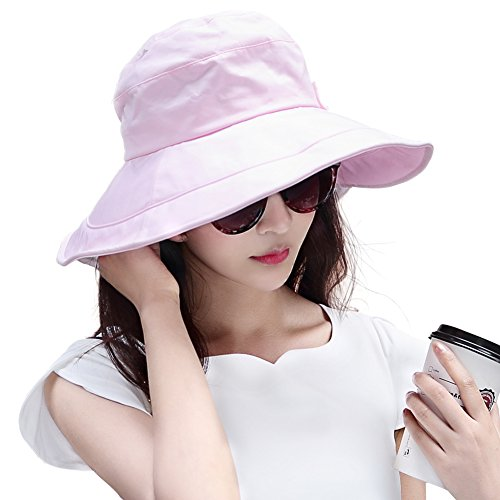 845f4a89447 Siggi Womens Summer Bucket Boonie UPF 50+ Wide Brim Sun Hat Cord Cap Beach  Accessories Pink - Buy Online in Oman.