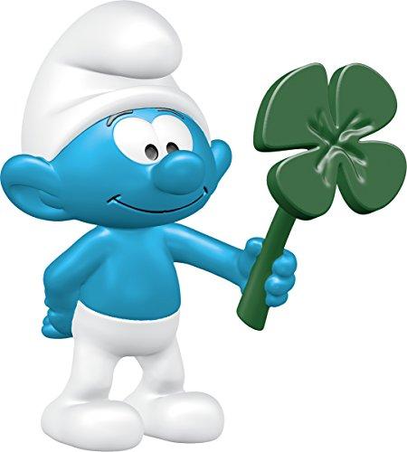 Figurine Smurfs (Schleich North America Smurf with Clover Leaf Toy Figure)