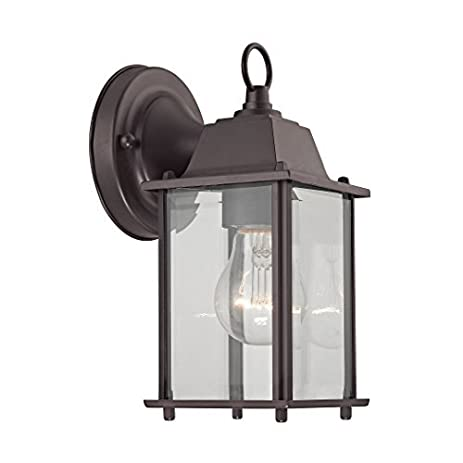 Elk Lighting 9231EW/75 1 Light Outdoor Wall Sconce, Oil Rubbed Bronze By
