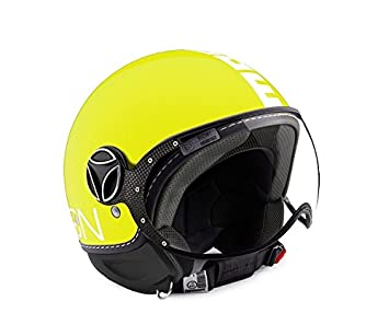 Casco Jet MOMO DESIGN Fighter FGTR Classic Amarillo-Blanco Talla ML