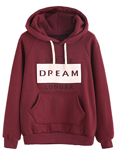 Verdusa Sweatshirt Letters Pullover Sleeve
