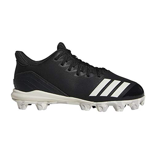adidas Kids Unisex's Icon 4 MD Cleats Baseball Shoe, Black/Cloud White/Carbon, 5 M US Big Kid