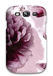Waterdrop Snap-on Flower Artistic Abstract Artistic Case For Galaxy S3