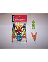 Get (12-PACK) Multi-Purpose Colored Kitchen Metal Food Bag Snack Chip Clips compare