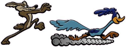 Coyote and Road Runner Large Decal 9' x 3' Nostalgia Decals 273A