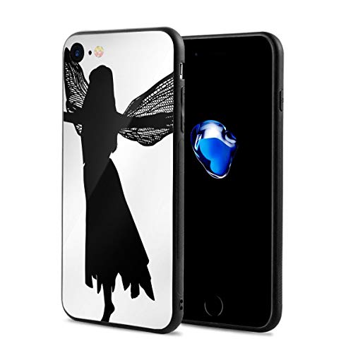 JHXZML Fairy Silhouette Clip Art iPhone 7/8/8S Case,Imported PC Materials Full Protective Anti-Scratch Resistant Cover Case for Apple IPhone7/8/8S -