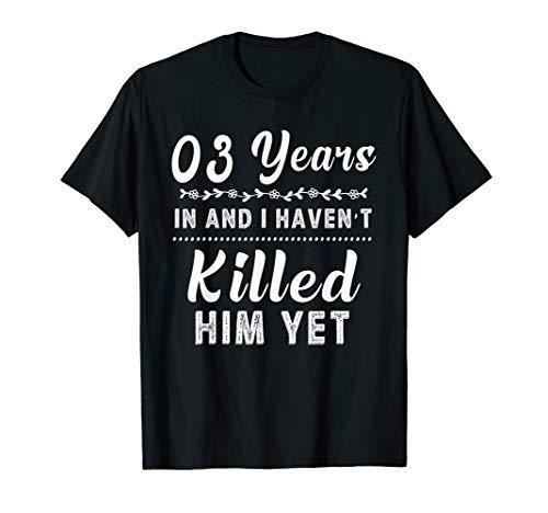 3 Years In Shirt. 3rd Year Wedding Anniversary Gift Idea