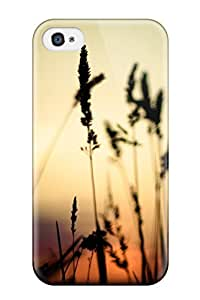 For Iphone 4/4s Tpu Phone Case Cover(plants In The Sunset Macro Black Nature Other) wangjiang maoyi