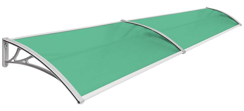 transparent Auswahl:80 x 150 cm Vordach Haust/ür Terrassent/ür /Überdachung Haust/ürdach Pultvordach Alu Kunststoff V2Aox Gr/ö/ßenauswahl Farbauswahl