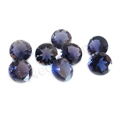Neerupam collection Blue Natural Orissa-Indian Iolite AAA Quality 3 mm Brilliant Cut Round Loose gemstone