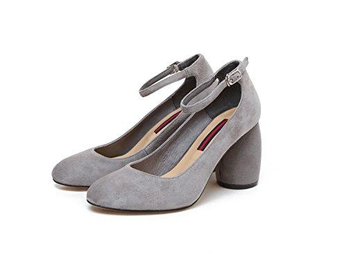 de redonda y zapatos cabeza son mujer cuero cómodas de talón único Donyyyy five Zapatos Thirty femenino zapatos mujer ZXqxOO5