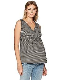 Women's Maternity Sleeveless Stripe Surplice Top