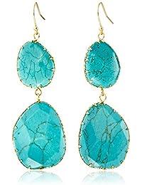 Double Turquoise Drop Earrings