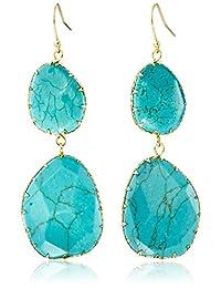 Panacea Double Turquoise Drop Earrings