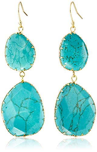 Panacea Double Turquoise Drop Earrings - Turquoise Dangle Earrings Set