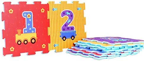 3 feet by 3 feet ColorTech Animal Choo Choo Train 9-Piece EVA Foam Puzzle Play Mat