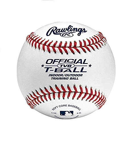 - Rawlings Youth Tball or Training Baseball, Box of 12 T-balls, TVB