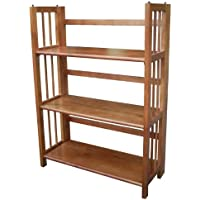 3-Shelf Folding Stackable Bookcase 27.5 Wide