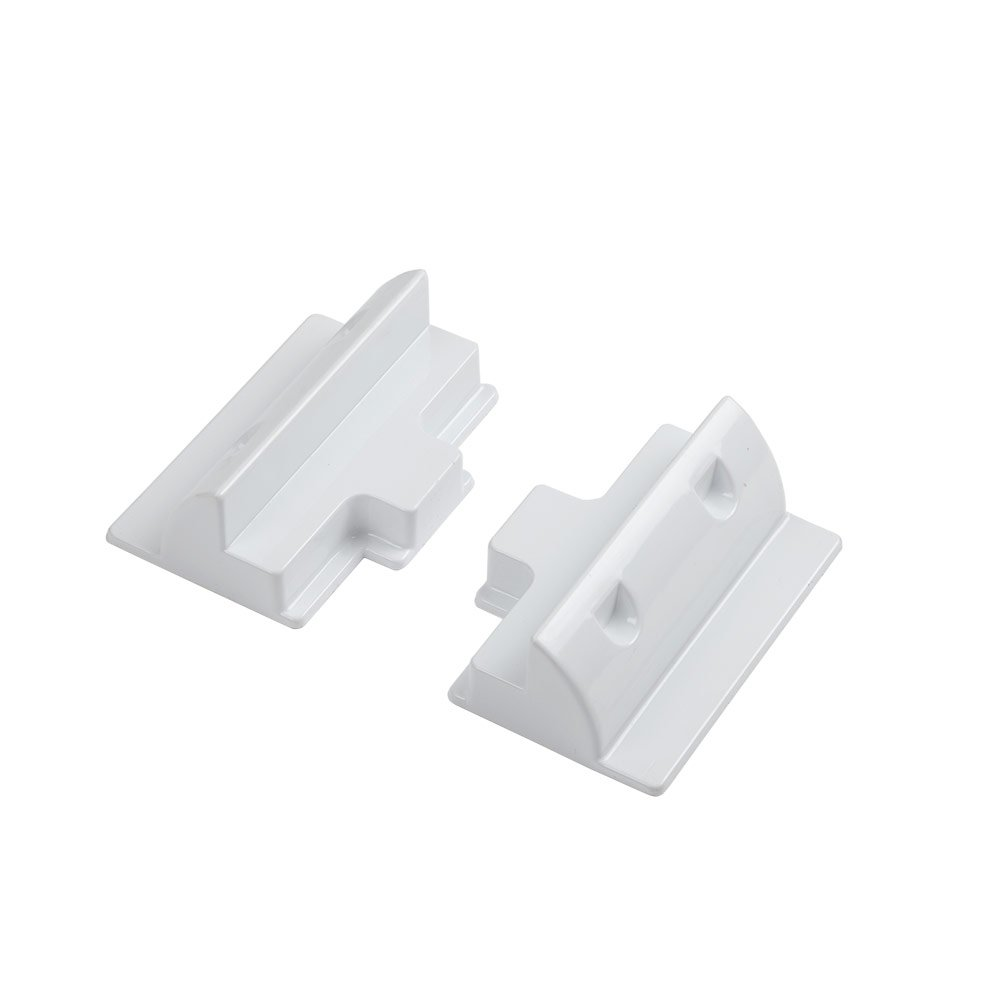 Biard Solar PV Panel Side Mounting Brackets In White For Caravan Motor Home Boat