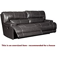 Signature Design by Ashley McCaskill Gray 2 Seat Power Reclining Sofa