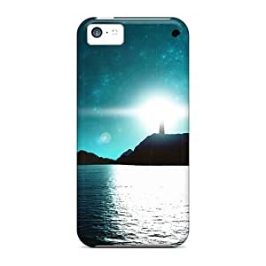 Durable Protector Case Cover With Lighthouse Far Away Hot Design For Iphone 5c