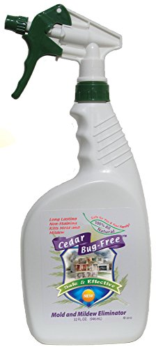 Mold and Mildew Remover – Cedar Bug-Free Mold and Mildew Eliminator. Natural Mold Killer – 32 oz