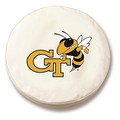 (Holland Bar Stool Co. Georgia Tech Yellow Jackets HBS White Fitted Car Tire Cover (28 1/2