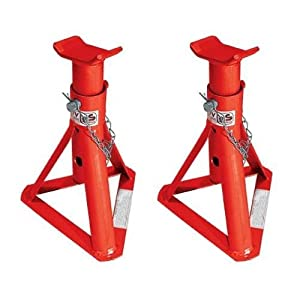 A Pair of 2 Tonn Axle Stands - 24cm to 36cm Lift Range