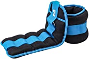 Reehut Ankle Weights,Durable Wrist Weight (1 Pair) with Adjustable Strap for Fitness, Exercise, Walking, Joggi