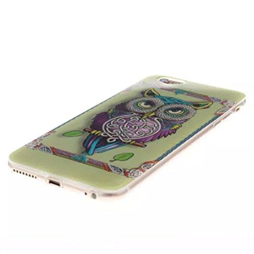 Trumpshop Smartphone Carcasa Funda protección para Apple iPhone 6/6s 4.7 + La ecuación masa-energía de Einstein + Delgado Suave Flexibles TPU Silicona Caja Protectora Choque Tecnología Absorción Búho Lindo