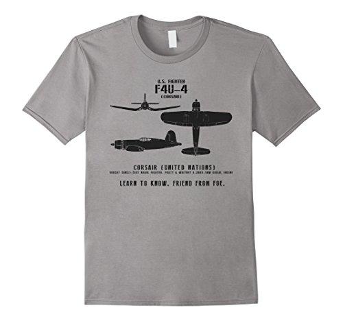 WWII Spotter Series F4U Corsair Naval Fighter T-Shirt ()