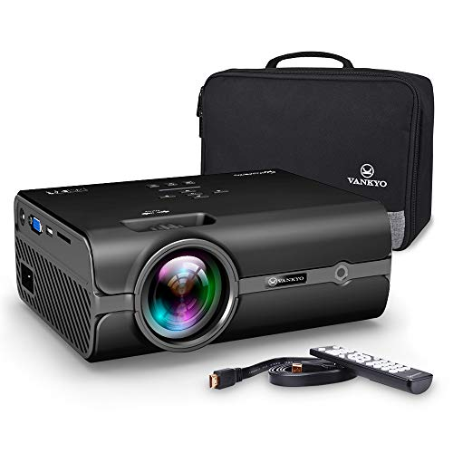 VANKYO Leisure 410 LED Projector with 2500 Lux, Carrying Bag and HDMI Cable, Portable Projector Supports 1080P, HDMI, USB, VGA, AV, SD Card, Compatible with Fire TV Stick, PS3/PS4, Xbox (2-Black) by VANKYO