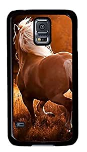 Running Horse Custom Back Phone Case for Samsung Galaxy S5 PC Material Black -1210083