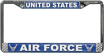 Amazoncom Us Air Force License Plate Frame Chrome Metal Automotive