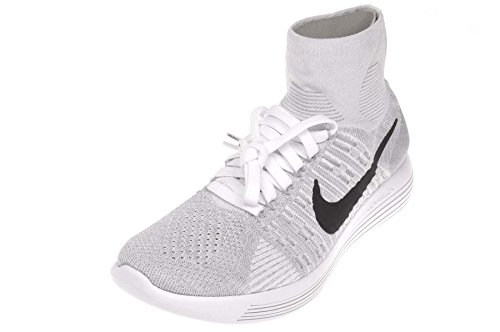 pr Running blanco Flyknit white Grey Lunarepic Uomo wolf Bianco Black Scarpe Nike Pltnm YgBPxqw