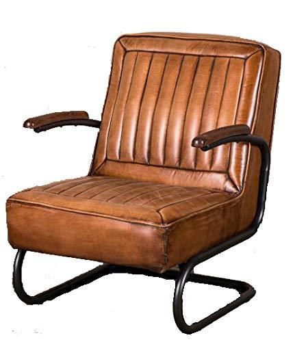 Sillón de piel estilo vintage de estilo tan, el sillón de ...