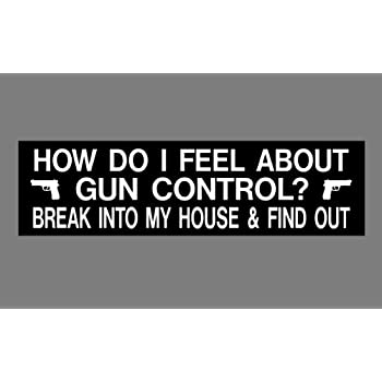 Anti gun control bumper sticker 3 x 11 how do i feel