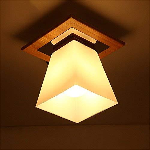 Nordic Hall Entrée Plafond Plafond Allée Balcon Verre à Une tête LED Lampes Japonaises Créatives