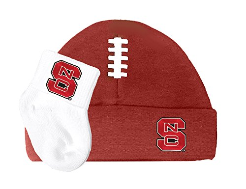Future Tailgater NC State Wolfpack Football Cap and Socks Baby - Nc State Wolfpack Pajamas