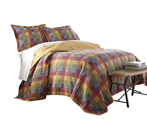 Sterling Creek Monaco 3-Piece Vintage Rustic Patchwork 100%-Cotton Quilt Set (Queen) by Sterling Shelf Liners