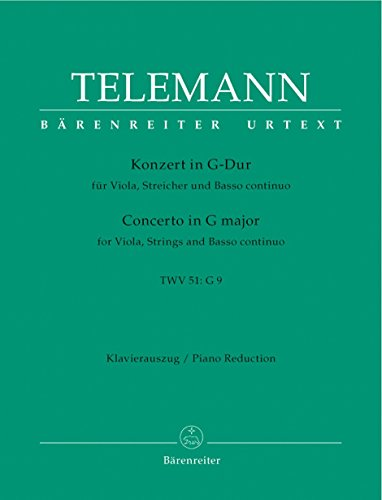 Telemann: Viola Concerto in G Major, TWV 51:G9