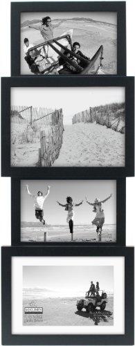 Malden International Designs Collage Picture Frame, 4 Option, 2-4x6 & 2-5x7, Black -