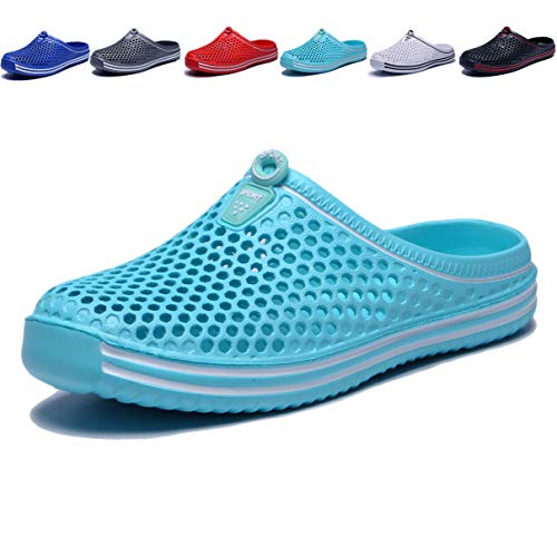 Garden Womans - welltree Garden Shoes/Sandals Women Men Quick Drying Clogs/Slippers Walking Lightweight Rain Summer 5 Men/7 Women/Light Blue/38